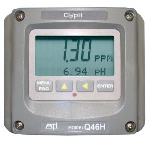 Residual/ free chlorine monitor analyser
