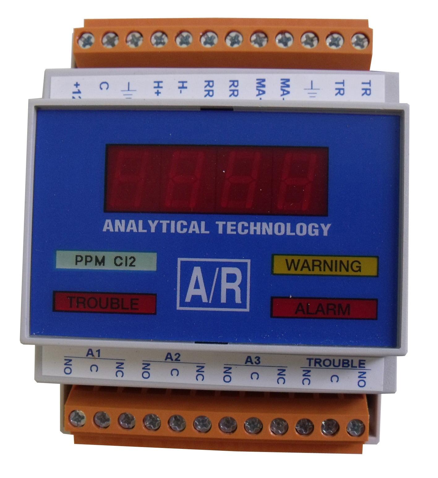 Gas detector receiver module