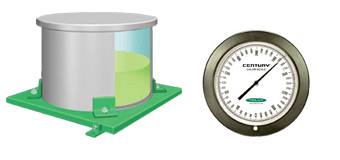 Day tank hydraulic indicator