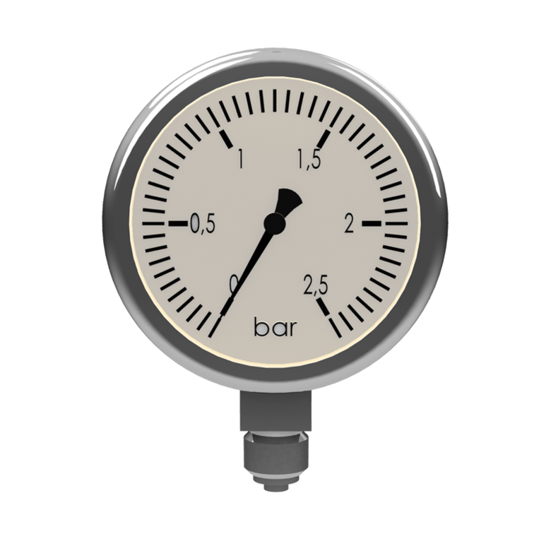 Chemical pressure gauge