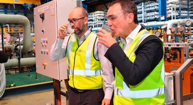 Adelaide desalination plant Premier visit